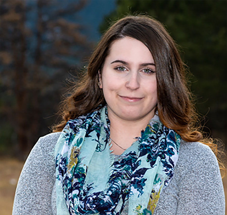 Olivia Earwood, an Administrative Assistant and TMS Tech in Boulder, CO.